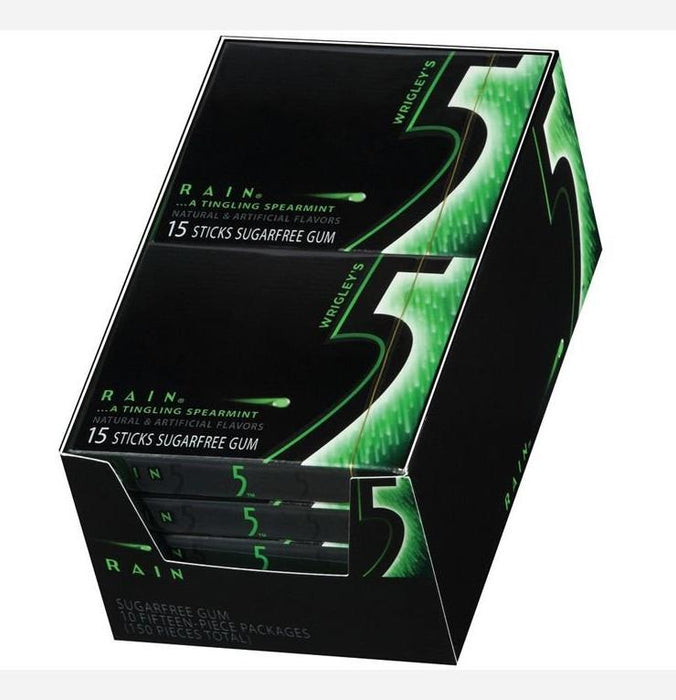 5 Gum Spearmint Rain, 10 CT - 15 PK