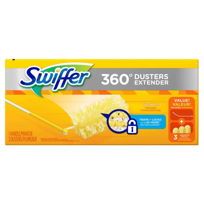360 Swiffer Duster, 1 handle 3 Dusters