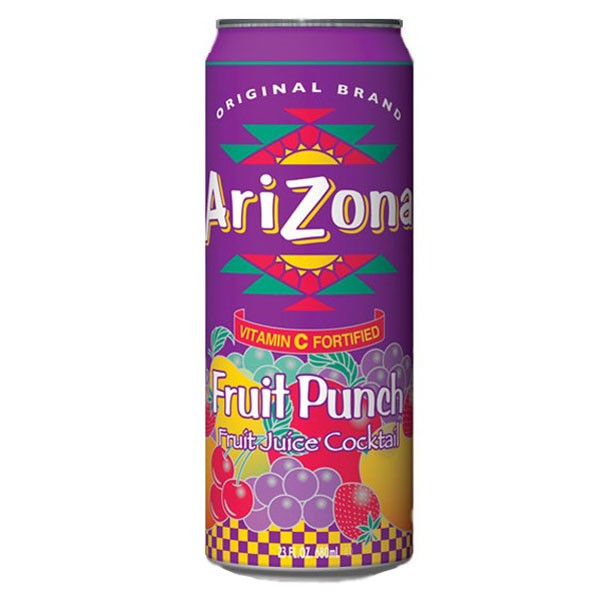 Arizona Fruit Punch Cans, 24 - 23 OZ