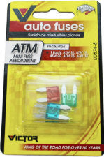 Auto Fuses ATM Mini Fuse Assortment, 1 CT - PK
