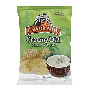 $1.49 Flavor Mill Cream Dill Chips, 12 - 2.75 OZ