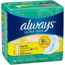 Always Maxi Ultra Thin Regular Pads, 1 CT - 10 PK