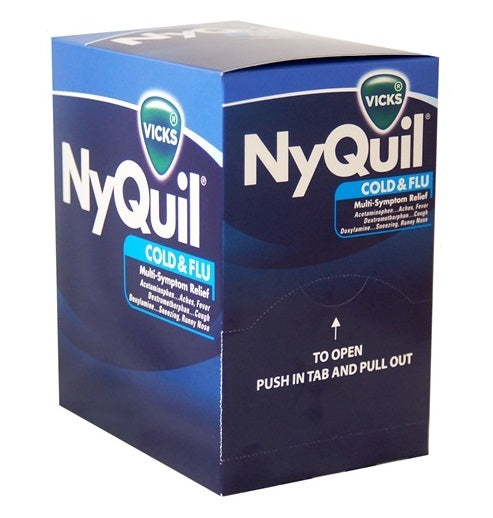 Vick's NyQuil Cold & Flu LiquiCaps Box, 2 PK - 25 Packs