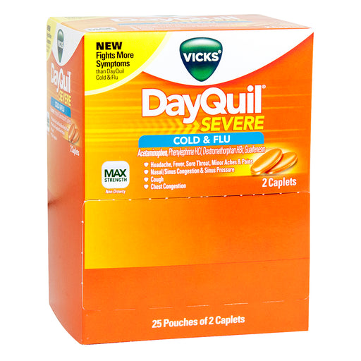 Vick's DayQuil Severe Caplets Box, 2 PK - 25 Packs