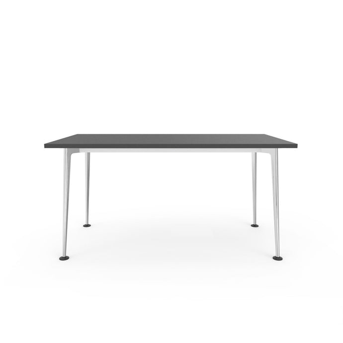 Openo Desk - Graphite Top with Polished Jazz Leg