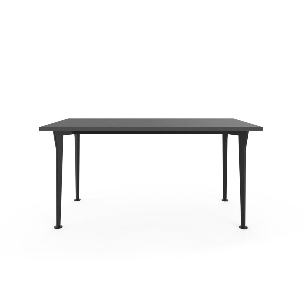 Openo Desk - Graphite Top with Black Acro Leg