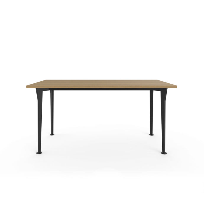 Openo Desk - Zen Teak Top with Black Acro Leg