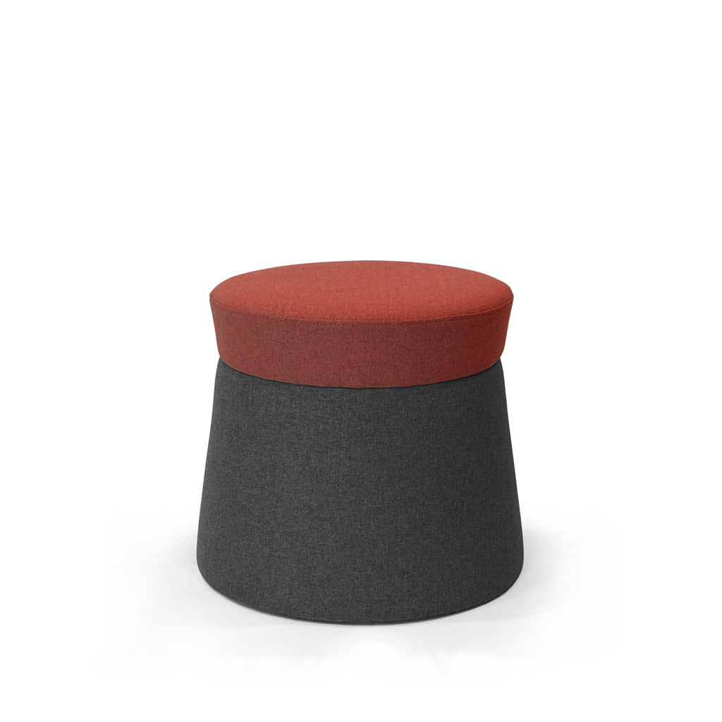 Mov Pouffe - Ruby/Gravel