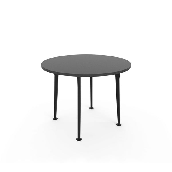 Openo Round Table - Graphite Top with Black Acro Leg