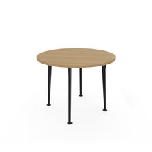 Openo Round Table - Zen Teak Top with Black Acro Leg