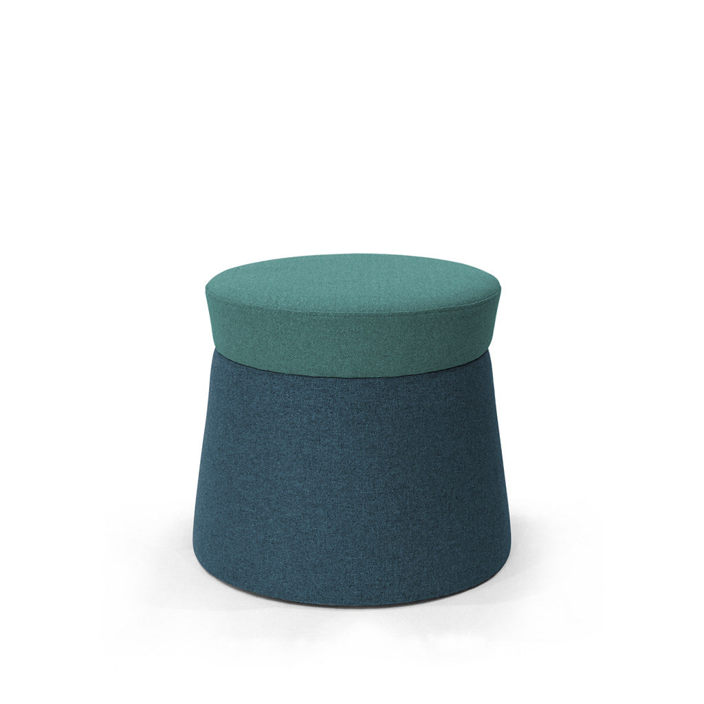 Mov Pouffe - Turquoise/Sapphire