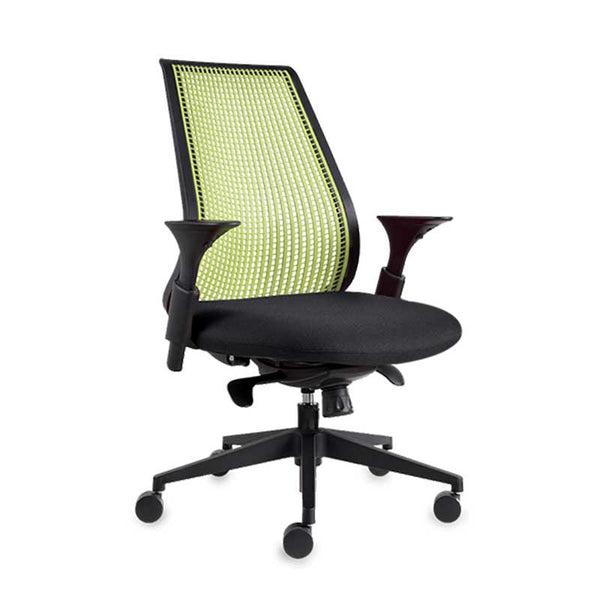 A-Balance Green and Black Colour Office Chair