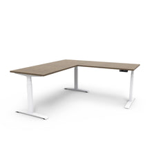 Adjust L-Shape Height-Adjustable Table - Marinus Walnut
