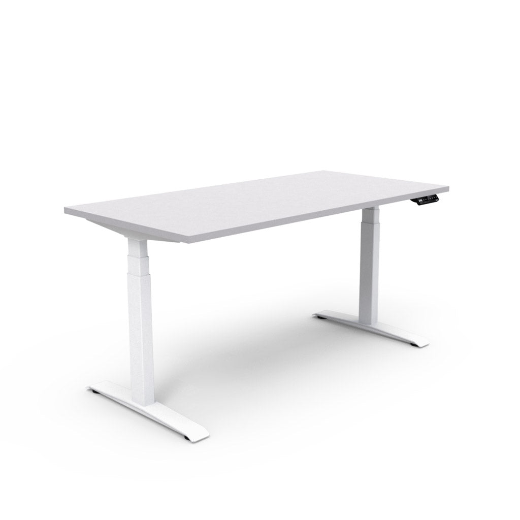 Adjust Rectangular Height-Adjustable Table - Light Grey