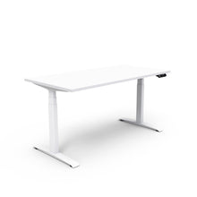 Adjust Rectangular Height-Adjustable Table - White