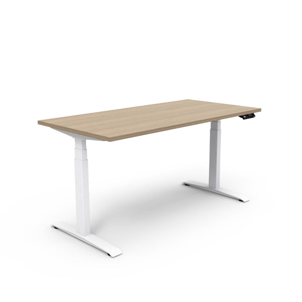 Adjust Rectangular Height-Adjustable Table - Zen Teak