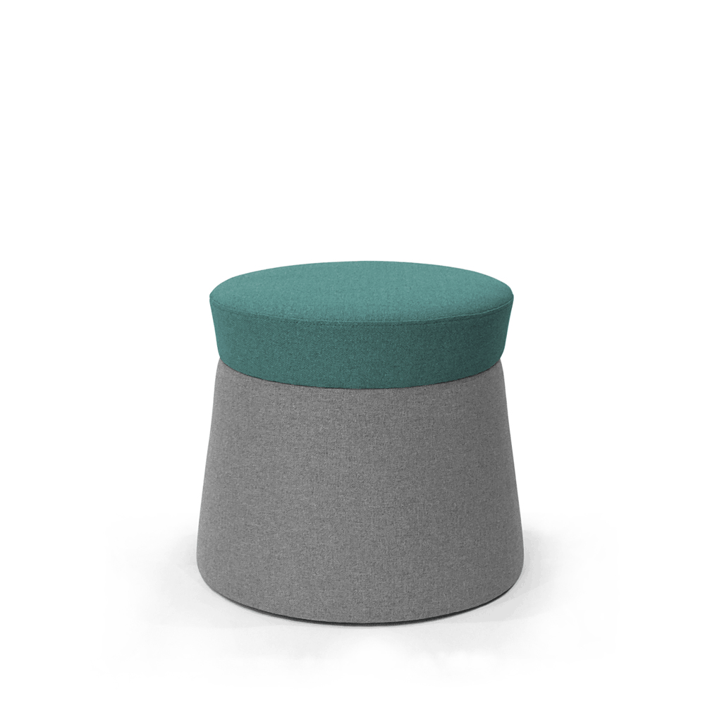 Mov Pouffe - Turquoise/Ash