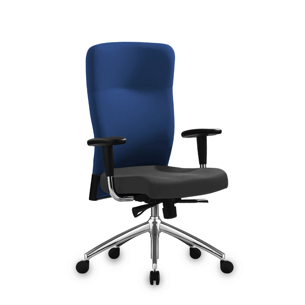 Benel Zipp Midback Fabric Chair in Blue Colour