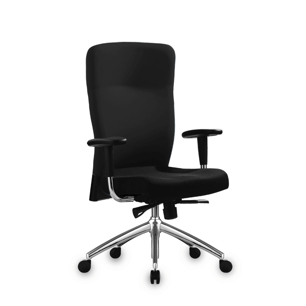 Benel Zipp Midback Fabric Chair in Black Colour