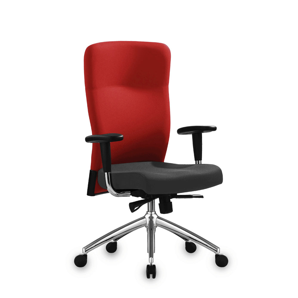 Benel Zipp Midback Fabric Chair in Red Colour