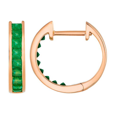 Easy Emerald Hoops