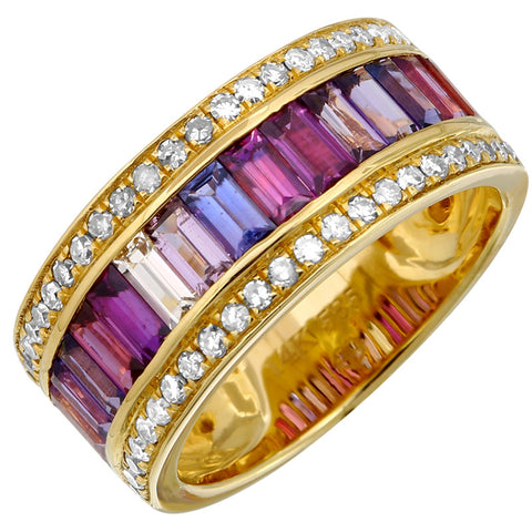 "Multi Color ""Baguette"" Ring"
