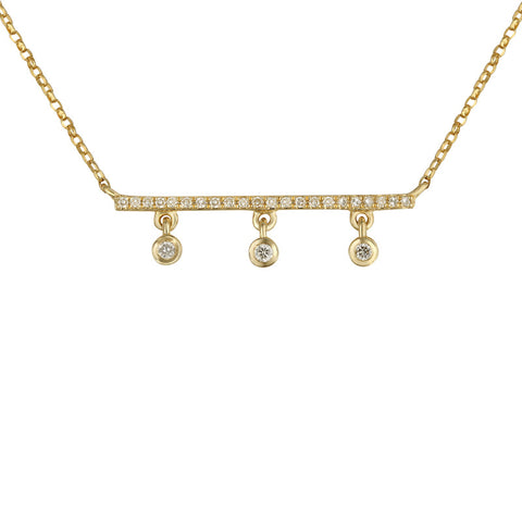 Diamond Drop Bar Necklace