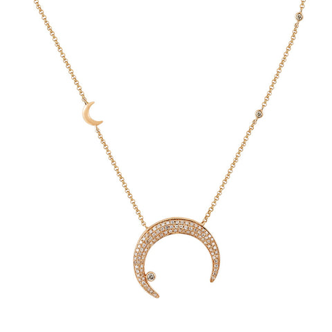 Double Crescent Necklace