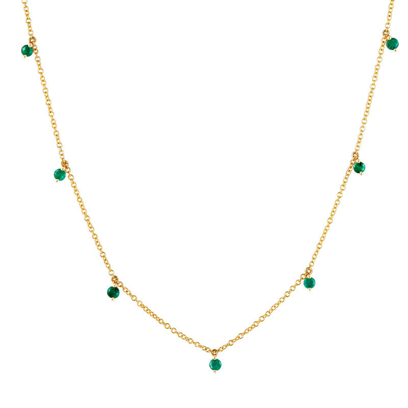 Emerald Kiss Necklace