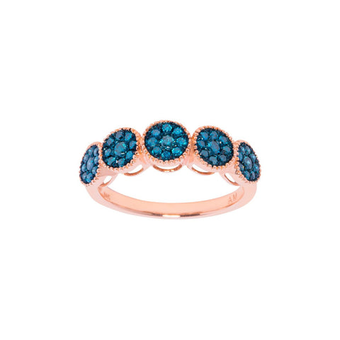 Blue Diamond Boho ring