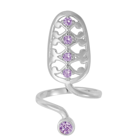 Violet Filigree Nail Armour