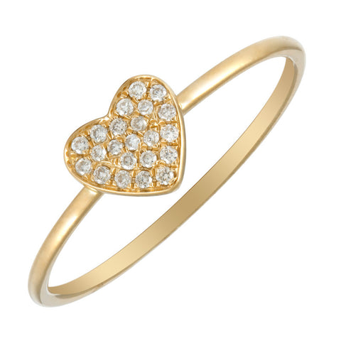 Sweetheart Pave' Ring