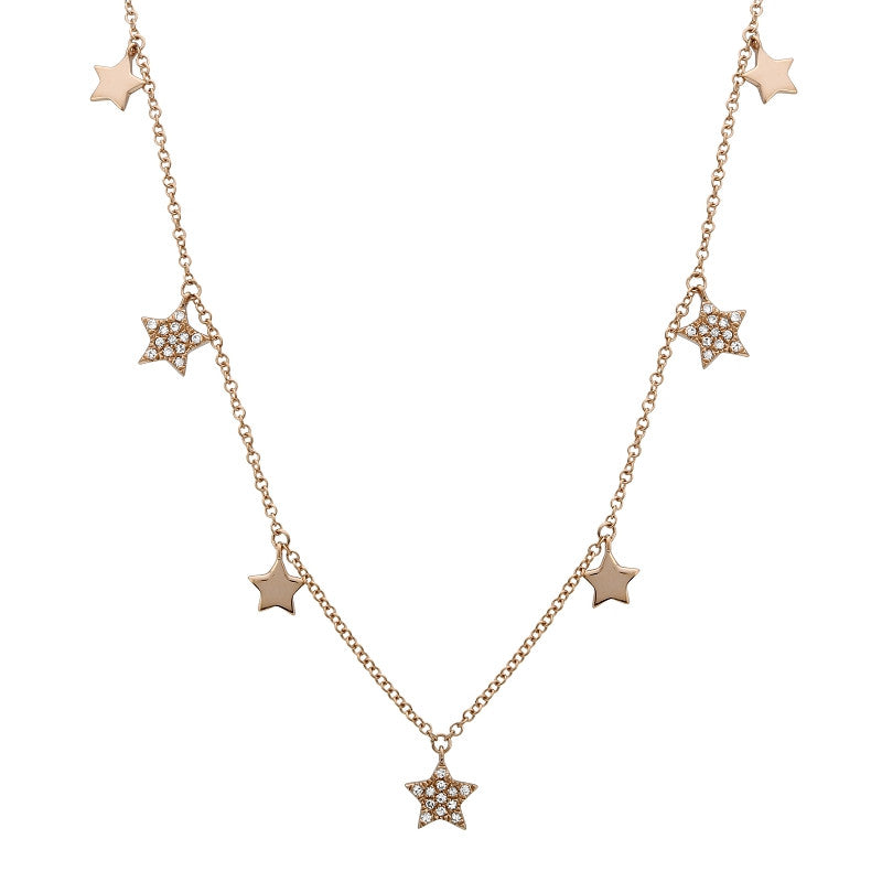 16 in. Falling Stars Necklace