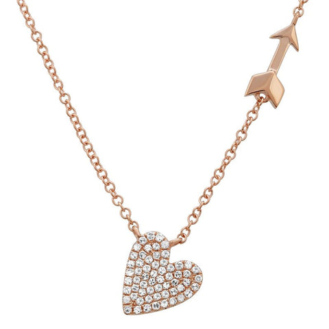 Follow Your Heart Pave' Necklace