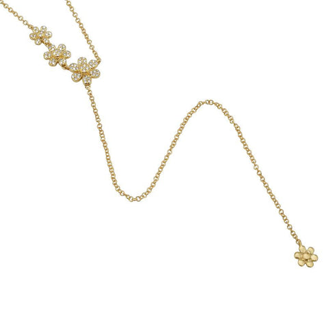 Daisy Chain Lariat Necklace