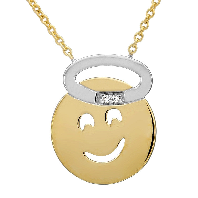 Angel Emoji Necklace