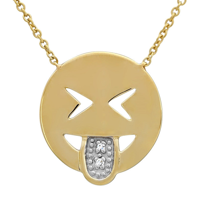 Tongue Out Emoji Necklace