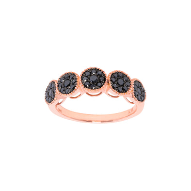 Black Diamond Boho Ring
