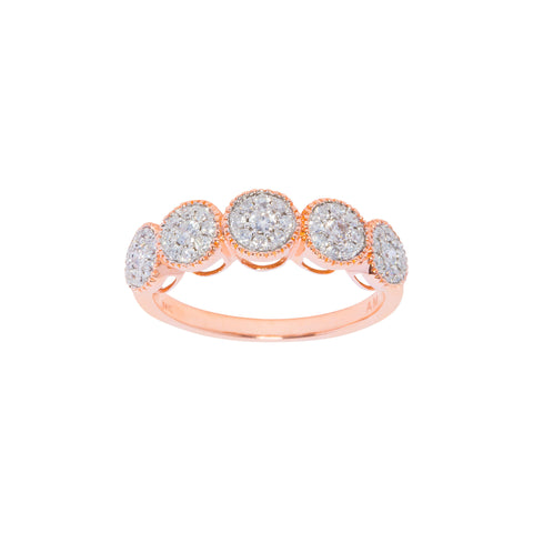 White Diamond Boho Ring