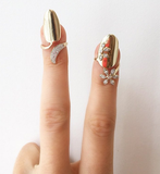 Diamond Drop Golden Nail Ring