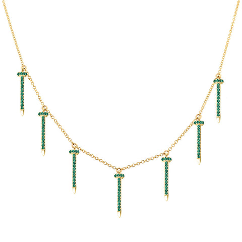 Nailed 2 Green Necklace