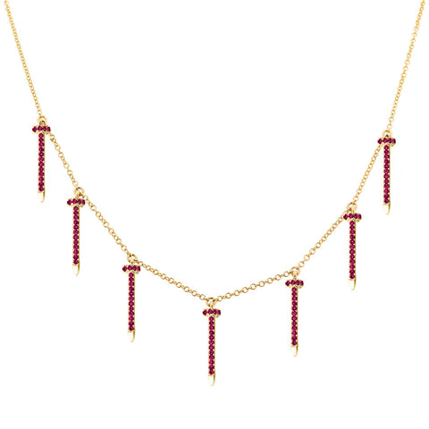 Nailed (Rubies) Necklace
