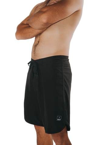 "Tribe 18"" Boardshort- Black"