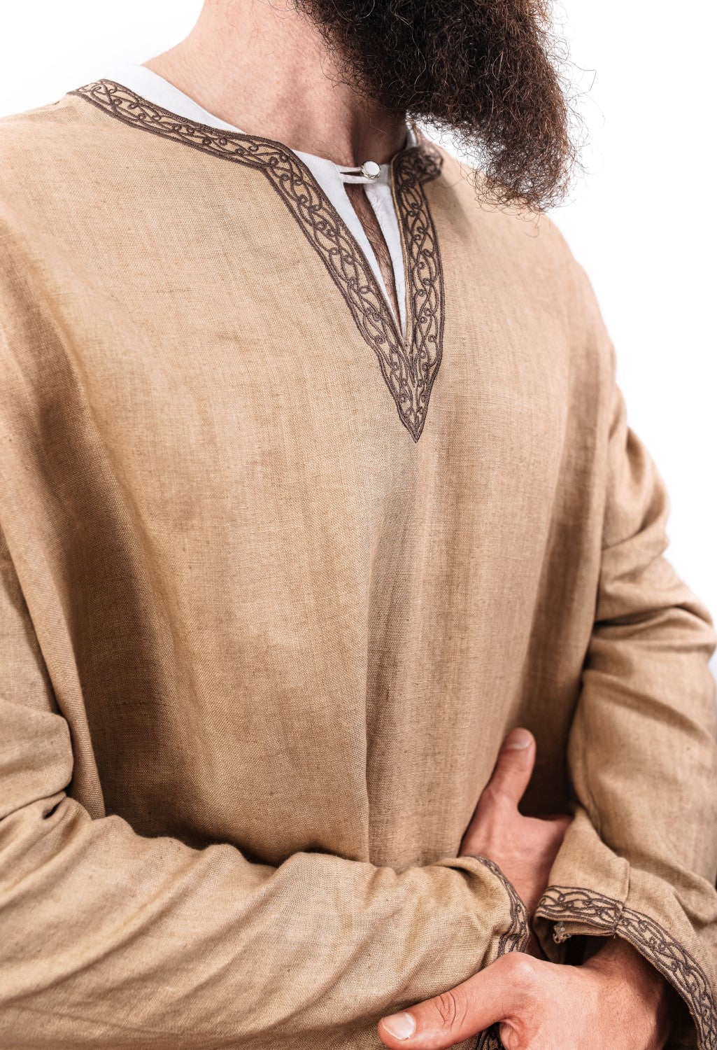 Small size S-M linen tunic with Thor/'s Hammer Seasonal Sale cosplay fantasy Viking reenactment 20/% Price Reduction!
