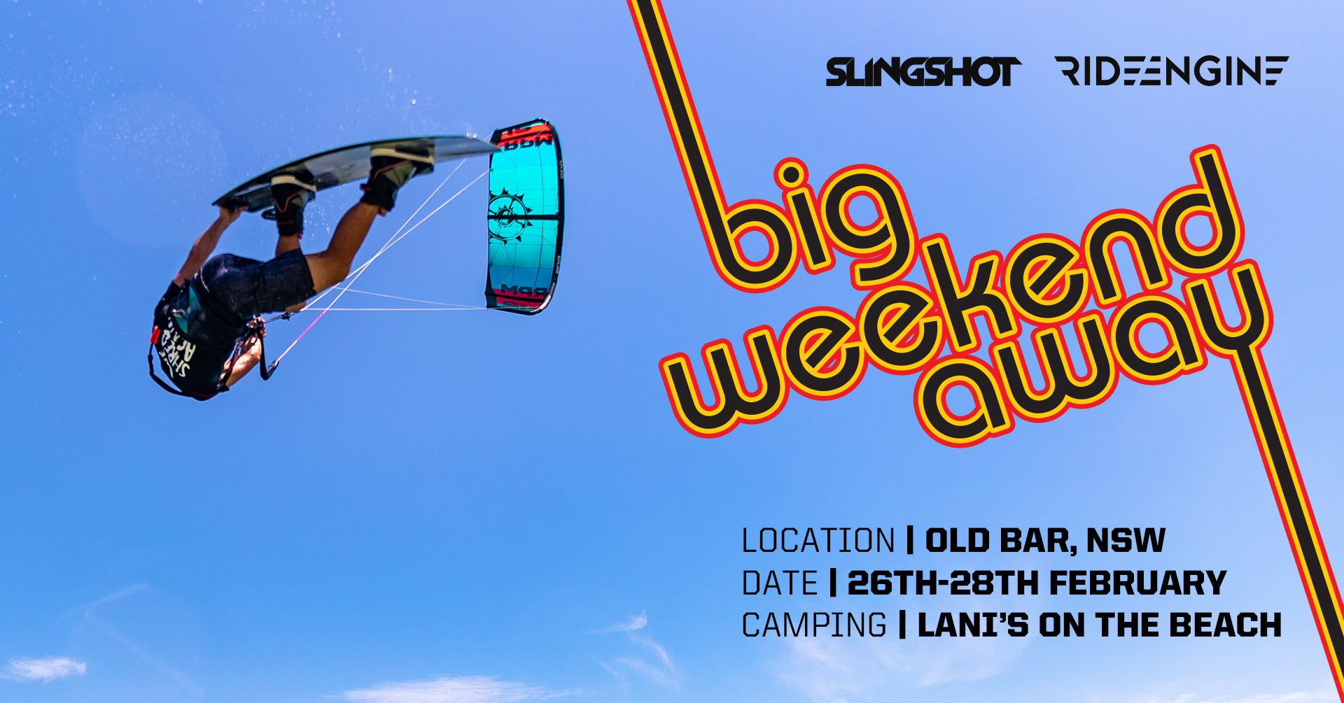 Big Weekend Away Old Bar New South Wales event kiteboarding