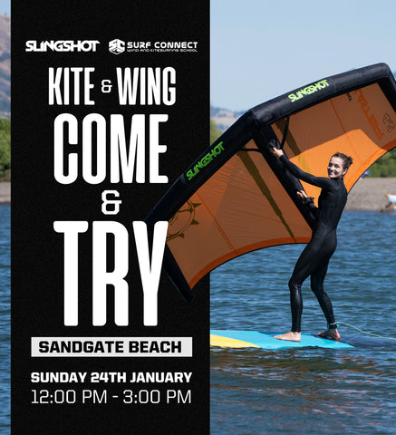 Kiteboarding and Wing Surfing trial event Sandgate Queensland