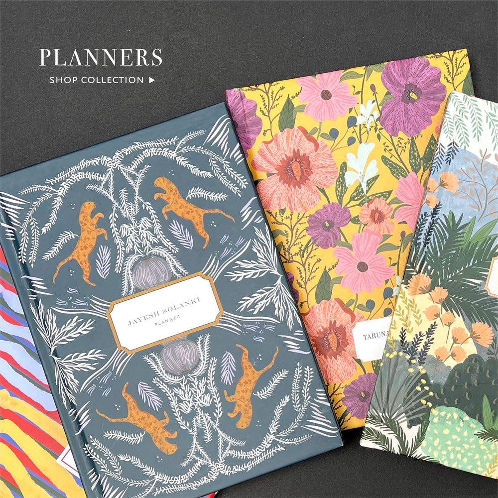 Undated Personalised Planners, Start using them any month