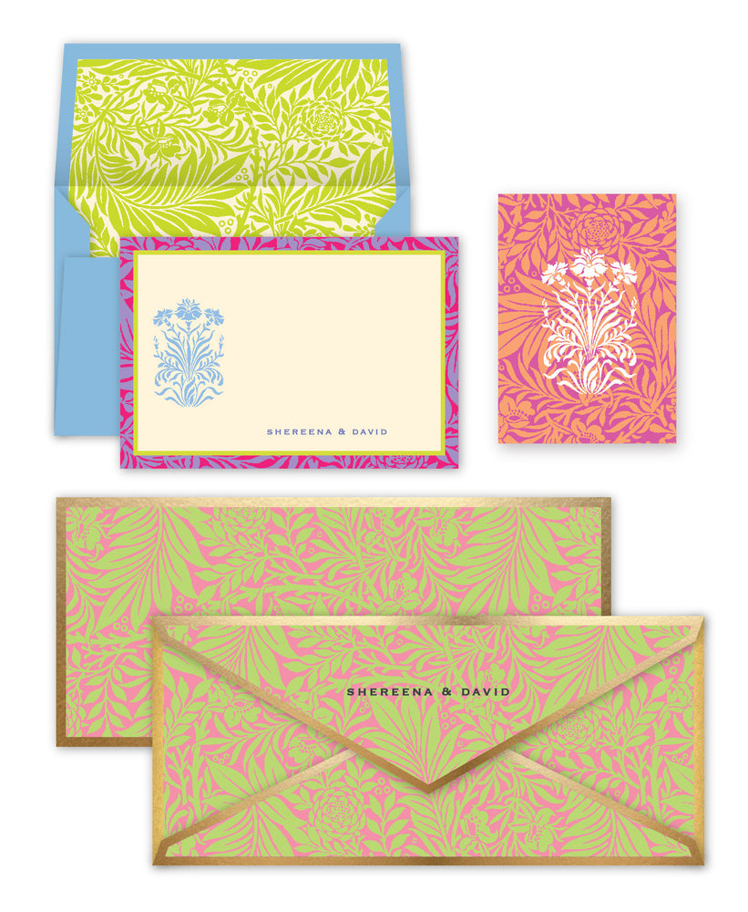 Floral Pink & Green Box Set