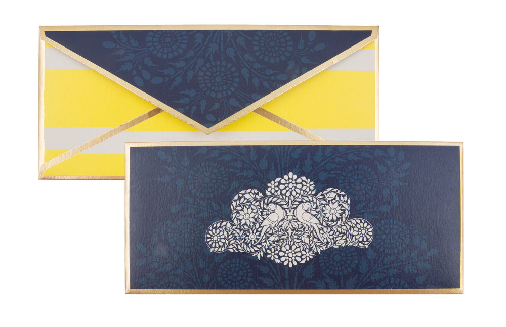 Parakeet in Yellow & Blue Gift Envelope Customised