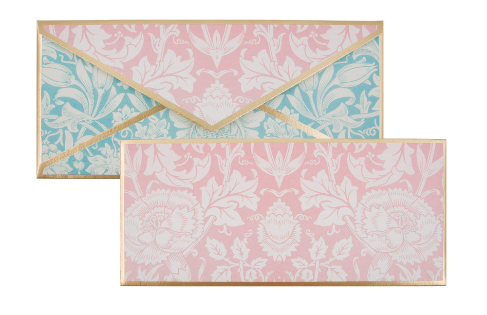 Pink & Blue Floral Envelope